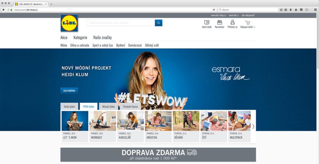 fd2f26cfaa144 Český Lidl spustil e-shop, na Slovensko dovážať nebude ...