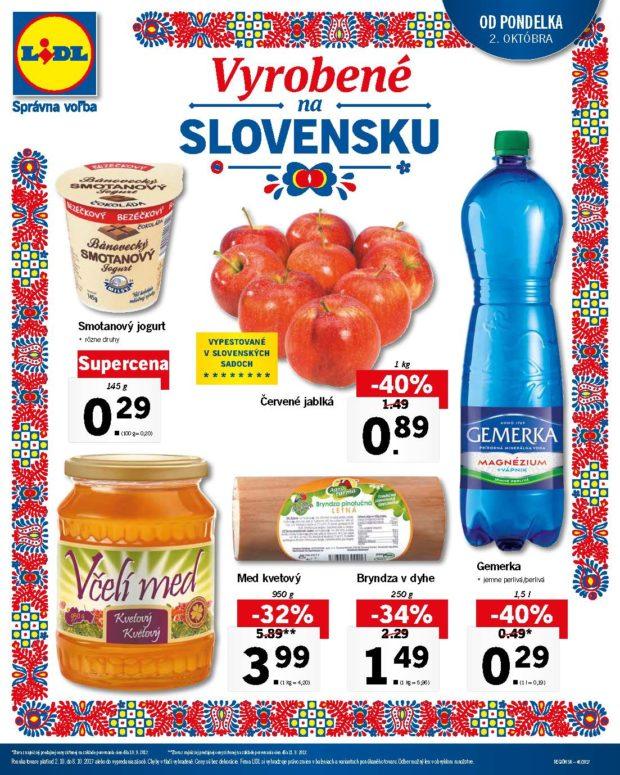 Lidl má od pondelka tematický týždeň Vyrobené na Slovensku