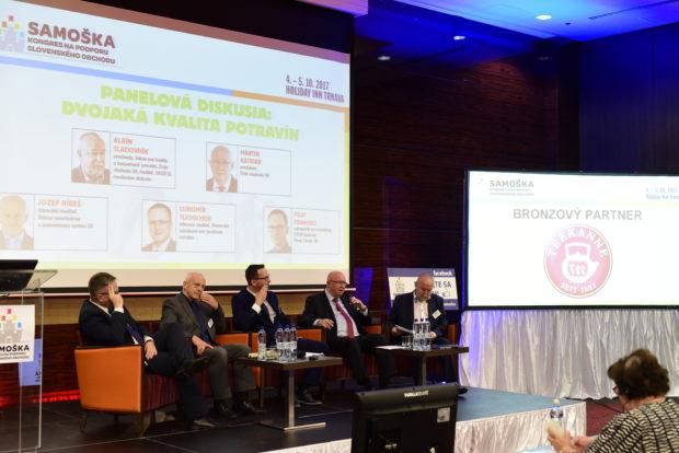 Panelová diskusia na Samoške: Dvojakú kvalitu potravín treba riešiť prijatím európskych pravidiel