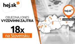 Internetový obchod Hej.sk rozširuje počet odberných miest na 18. Budú v predajniach Datartu